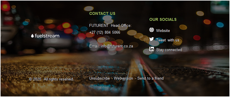 Text Box:        	  	CONTACT US      FUTURENT Head Office:  +27 (12) 804 5066     Email: <a href=